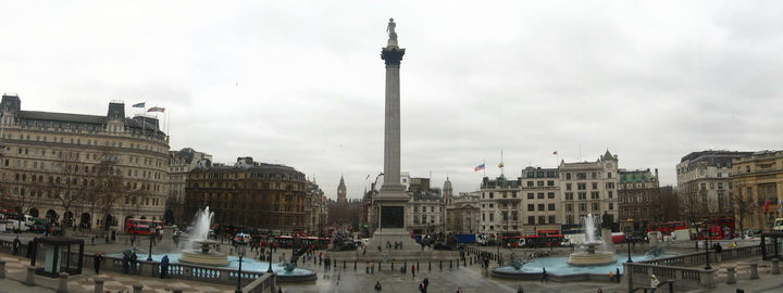 Trafalgal Square, Nelson's Column, National Gallery